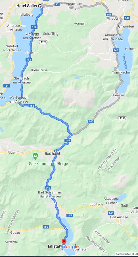 Route nach Hallstatt