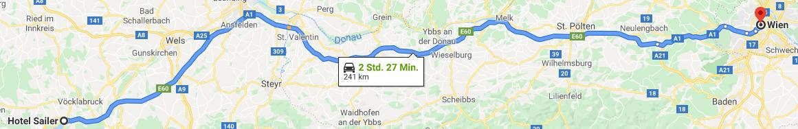 Route nach Wien